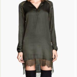H&M Women's Natural Satin Tunic Dress